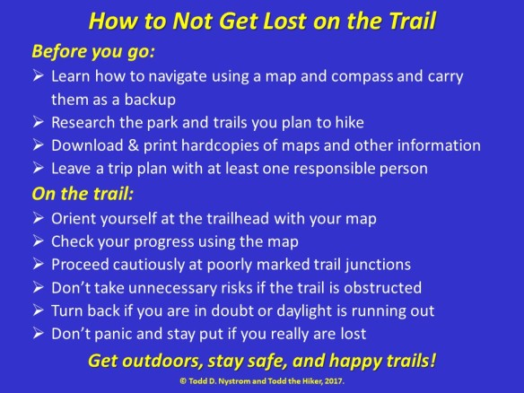 How to Not Get Lost Infographic