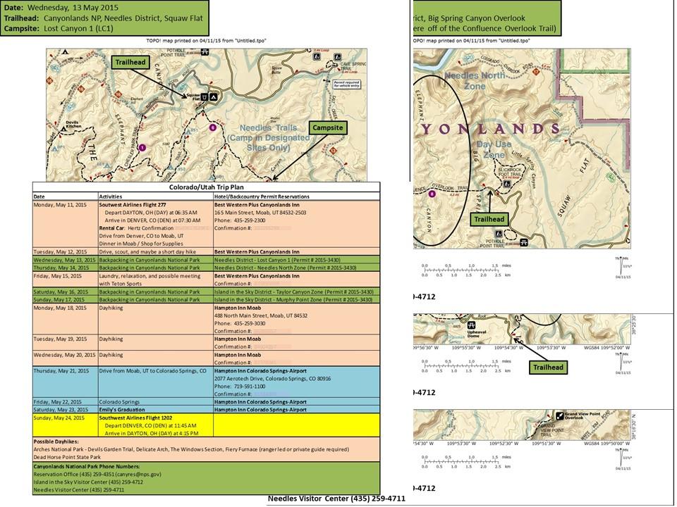 Trip Plan Example